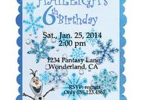 "Frozen Birthday Party Package / Everywhere you go little girls are singing ""Let it Go"" from the movie ""Frozen"". So here is my take on a ""Frozen"" Birthday Party. / by Vickie List"