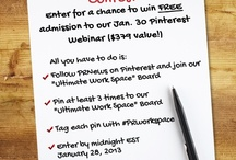 Your Ultimate Workspace -- Contest!  / #PR News wants you to pin images of your dream workspace! You must pin 3 times by Jan. 28 midnight ET. The winner will get FREE admission to our #Pinterest #Webinar on Jan. 30! Start pinning! 