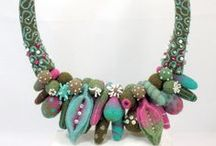 Felted flowers, jewel. & acc. / Beautiful pieces of art for inspiration. / by Precious Darling