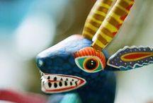 mexico: artesania y textiles / crafts (obras manuales), sculptures (escultura), folk art  / by lupe flores