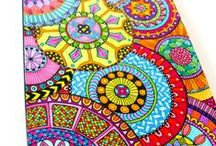 Doodle / zentangle  and other pattern inspiration for polymer mosaic, borders, background and landscape / by Lavender Blue