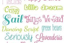 Fonts / by Kristin -- Grandma's Chalkboard