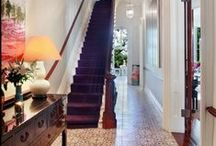:: Hallways :: / Hallway  Entry  Foyer  Interior design  Corridor  Stairs  Maison / by tinasindahl.com