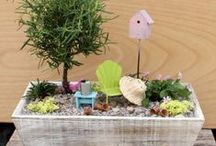 ! G~ Fairy Gardens / Fairy size gardens ~ Oh I do believe in Fairies! / by Kat .