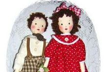 Dolls from Edith Flack Ackley (EFA) Patterns / Edith Flack Ackley created the cloth doll patterns that inspired me to sew!  Cloth dolls are a first love for me and this style is my favorite!. / by Kim Hayes