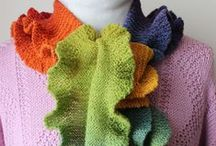 Esarfe,saluri,poncho , fulare tricotate si  crosetate / by Silvia