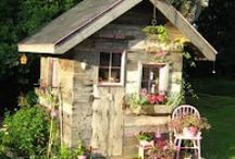 Potting and Garden Sheds, Green Houses, Sun Rooms, Conservatory and Ye Old Outhouse / by Elaine Plant