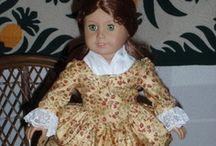 1770s Colonial Dresses for American Girl Felicity Elizabeth 18 inch dolls / by Aloha Girl Doll Clothes