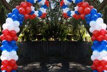 Balloons - Patriotic / by JOAN HAGEDORN
