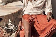 Jupe longue femme / séléction de jupe longue, des plus habillées aux plus babacool...droites ou évasées...pour toutes les silhouettes ! / by Mode femme