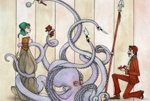 steampunk - illustrations / by On ne joue pas avec la nouritture
