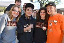"""We """"Mustache You"""" — How do you get your Orange on? / During #OilerNation's Fall 2013 Spirit Week, orange mustaches were spotted all over campus! / by The University of Findlay"""