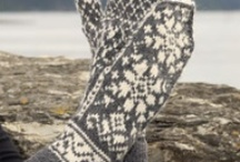 Knitted hats,scarves,gloves,socks and slippers / by Sandra Massey