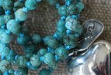 Lady Faith Summer 2014 / Beautiful handmade jewelry. Black, white, and grey pearl malas, Huichol seed necklace with tassel, Howlite malas and much more.  / by Lady Faith