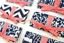 Bridesmaid Clutches / Handmade Clutch Purses for wedding parties & bridesmaid gifts // Pattern mixes in a variety of colors! / by {AO3} DESIGNS