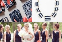 Bridesmaids Clutches Navy & White / by {AO3} DESIGNS