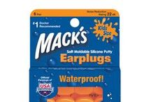 Ear Plugs For Swimming / These comfortable water-proof swimming earplugs for kids and adults block out water and help prevent swimmer's ear (otitis externa) and surfer's ear (exostosis). Mack's swimmer's ear plugs are also great for surfing, showering, kayaking, rafting, snorkeling and bathing. With Mack's waterproof ear plugs for swimming, you can hit the shower, waves or pool with confidence. / by Mack's Ear Plugs