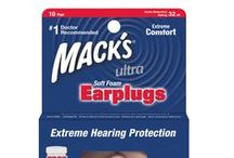 Noise Reduction Ear Plugs / These comfortable earplugs for loud noise help reduce the potentially harmful effects of exposure to high or bothersome noise levels. Mack's ear plugs for noise reduction provide hearing protection for loud events, concerts, snoring, shop use, studying, sleeping, motorcycles, shooting sports, etc. Mack's Ear Plugs for loud noise will help preserve your hearing and provide you with some peace in a noisy world. / by Mack's Ear Plugs