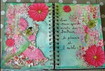 art journal / mixed media / mes coups de coeur / by tresor eloa