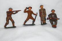 Lead soldiers / Toy soldiers made out of lead / by RE Parker