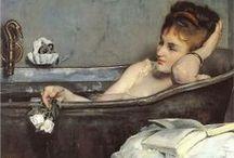 Blick ins Badezimmer / Art - Frauen im Bad / by Tina H