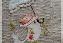 embroidery & applique / by hand or sewing machine / by DieVerziererei