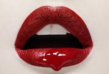Red Lipstick on the Lips / by Lipstick Lady