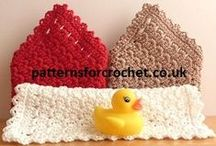 Free Crochet Patterns for Kitchen & Bathroom / FREE crochet Patterns for the Kitchen Visit:- www.patternsforcrochet.co.uk to get the patterns & print. / by Patternsforcrochet (a free pattern website)