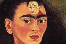 Frida Kahlo / Diego Rivera / Diego Rivera (1886-1957) muraliste et peintre Frida Kahlo (1907-1954) peintre  - mariés en 1929 divorcés en1938 remariés en 1940 couple mytique a partagé de nombreuses amours. Frida a inspiré les plus grands photographes de son temps / by ULTRO GOTHE