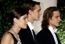 The Casiraghi Trio / Casiraghi Trio (or C3) refers to the first three children of Princess Caroline of Monaco and her second husband, Stefano Casiraghi (1960-1990). Their maternal grandparents are the late Prince Rainier III of Monaco (1923-2005) and the also late Princess Grace (192-1982), formerly Hollywood actress Grace Kelly. The Casiraghi's hold no styles or titles. / by Casiraghi Trio