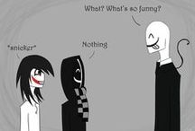 #Creepypasta / Jeff, Slendy, Splendy, Ticci, Offendy, Ben, Laughing, Eyeless.. I wuv chu all <3.<3  (CREEPYPASTA FOREVA ):{3)  (Black Butler and Creepypasta, two strongest fandoms i have & proud ):D) / by #Loki_Mischief (Xenix)