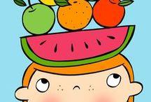 """De Kleurdoos:Thema """"Fruit, lekker en gezond"""" / by Nancy Van Goethem"""