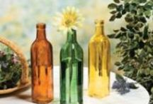 Glass & Bottles / Decorative glass, bottles, perfume bottles, vases, canisters, apothecary bottles, decanters, pitchers, glasses, votives, jars / by Annette *