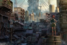 Dystopian Dream / Everyone has their dream home... Mine just happens to be in the cold dark vision of a crumbling futuristic metropolis. Cyberpunk - with bits of retro-futuristic/atompunk decor as well. High tech low life. / by Robyn Cruz-hawkins