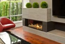 "Valor Fireplaces - L2 Linear Series / Inspired by the highly successful L1 series, the L2 linear fireplace provides a widescreen display that is 10"" larger than the L1, highlighted by a collection of unique trim options. / by Valor Fireplaces"