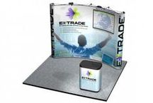 Trade Show Emporium's Pop-Up Displays / Pop-Up Displays are simple to assemble and disassemble, many using an accordion-style folding frame covered with fabric or photo mural panels. One person is all you need for set up or tear down. Our mural strip graphics are seamless, held in place with error proof magnets. This allows you to interchange more than one set of graphics or fabric panels on any of our pop up displays.  / by Trade Show Emporium