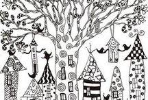 PATRONES - PATTERNS - COLORING PAGES / by ANA CAROLINA ÁLVAREZ CAÑETE
