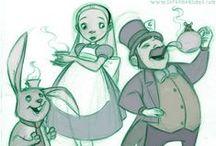 Alice in Wonderland / by Nebo Illustrates