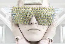 ∞ Amazing Glasses ∞ / Zonnebrillen, monturen, merken, vintage brillen, mode, fotografie, kunst, catwalk, trends, statements, streetwear, couture, art, models, glasses, sunglasses, specs, / by zienrs