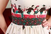 [vintage and antique clothing and fabrics with prints] / by magdalene