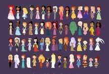 Disney Princesses and such / by Drawing Inspiration