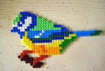 BIRDS  / Vögel aus Bügelperlen - Hama & Perler beads / by Mutti Mamma