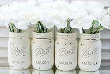 Mason Jars  / These darlin' Mason Jar creations are sweet as a peach! / by Martha White