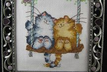 Gatti cross stitch / by Chiara Berti