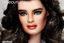 Brooke Shields / Brooke Shileds was born in New York City in 1965 and, at age 12, she starred as a child prostitute in Pretty Baby (1978) and The Blue Lagoon (1980) and her own sitcom Suddenly Susan; (1996) She also a Princeton University Grad. She's been immortalized here by artist Noel Cruz on the original canvas of the doll that was released in Shields likeness in the 80's. / by Farrah Fawcett