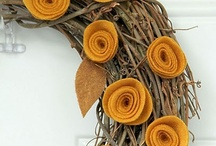 Door Decor / Making wreaths for all seasons / by Angie Vallejo