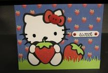 Cricut Hello Kitty / The Hello Kitty Greetings cartridge includes: White & Fur/Bow & Nose, Clothes/Clothes, Silhouette, Card, Shadow, and Blackout creative features. With poses, phrases, accessories, and icons... The Hello Kitty font cartridge includes: Round, Round Shadow, Silhouette, Flower, Shadow, and Shadow/Blackout creative features. / by Melanie Lewis