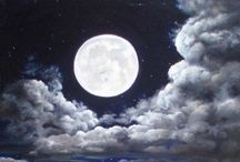 I see the moon...and the moon sees me / Stillness and beauty illuminates the darkness... / by Sherry Roberts