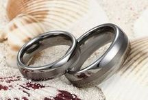Tungsten Couple Rings / Matching Tungsten Rings Set / by Tungsten Republic