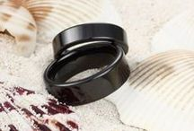 Ceramic Wedding Bands / Buy Ceramic Wedding Rings and Bands and Ceramic Rings at http://www.tungstenrepublic.com/ceramic-rings/ceramic-rings-c101.html #ceramic #ceramic ring / by Tungsten Republic